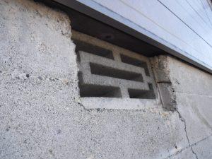 防研 福岡県筑紫野市 イタチ 床下換気口隙間